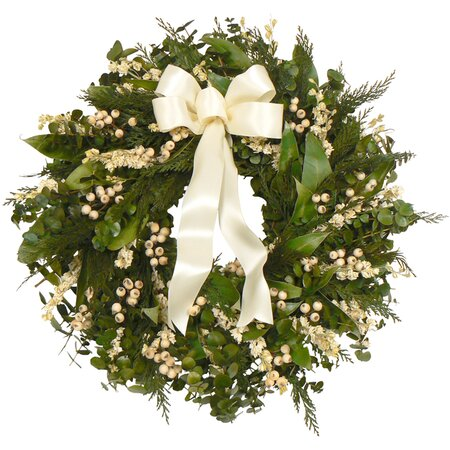 Small Preserved Cedar & Larkspur Wreath