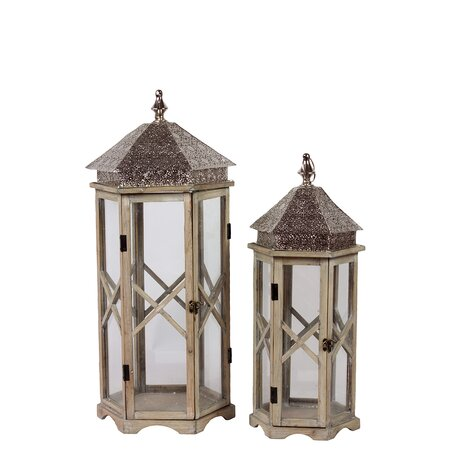 2 Piece Frances Lantern Set