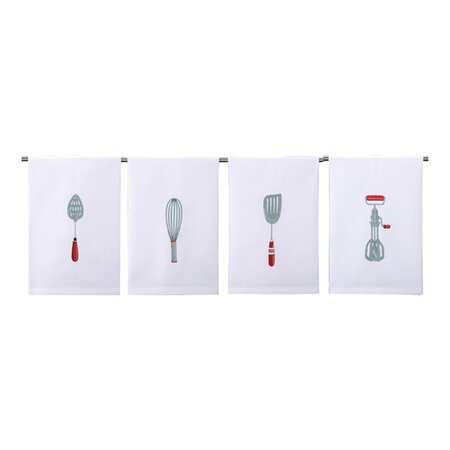 4 Piece Utensils Kitchen Towel Set