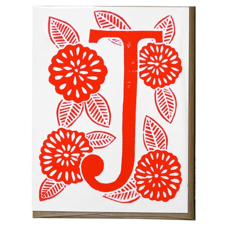 Katharine Watson J Monogram Notecard (Set of 5)