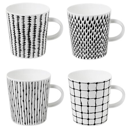 Design House Stockholm 4 Piece Bono Mug Set