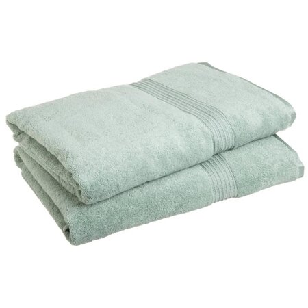 Spa Bath Sheet Set in Sage (Set of 2)