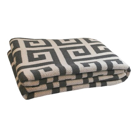Happy Habitat Greek Key Throw in Pewter