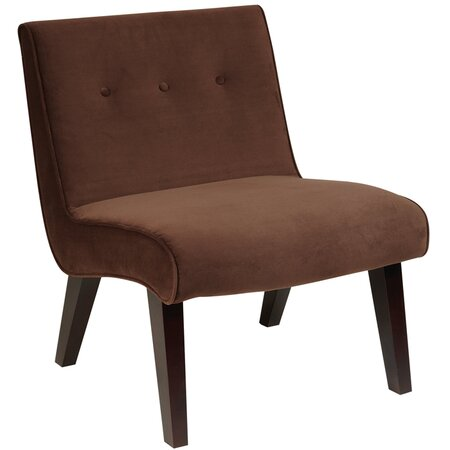Ave Six Valencia Accent Chair in Chocolate