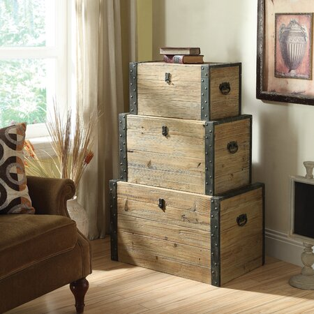 3 Piece Ondine Nesting Trunk Set