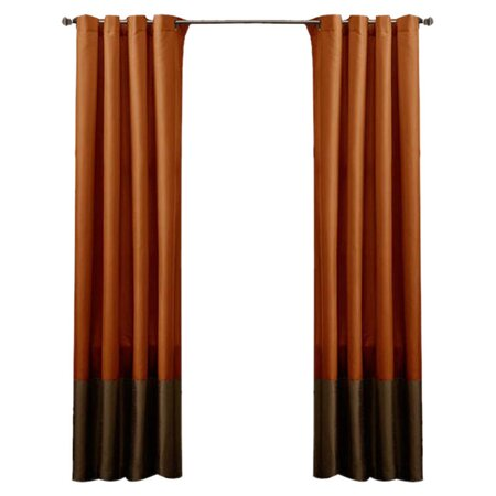Prima Curtain Panel In Rust Set Of 2 Refined Elegance On Joss Main