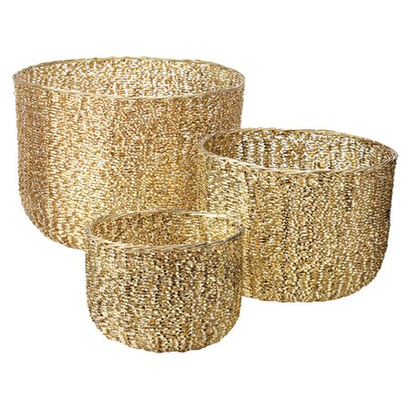 3 Piece Twist Basket Set