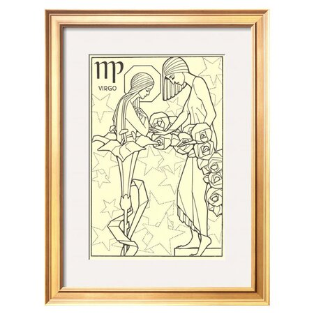 Virgo, the Young Girl Framed Print - Art.com