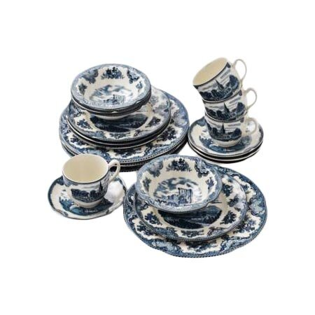20 Piece British Castles Dinnerware Set
