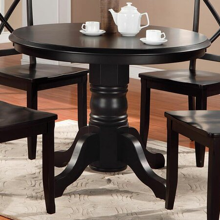 Black Pedestal Dining Table