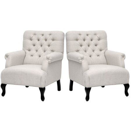 Baxton Studio Joussard Club Chair (Set of 2)