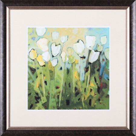 White Tulips Framed Art