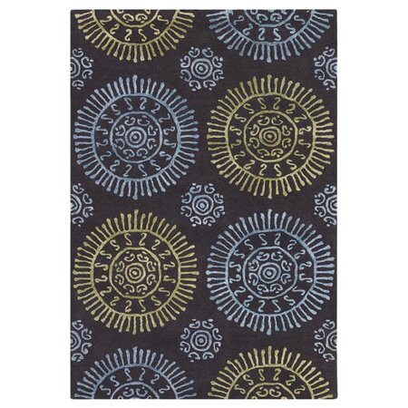 "Stanton 5' x 7'6"" Rug in Dark Gray"