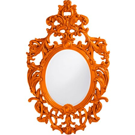 Victoria Wall Mirror in Orange