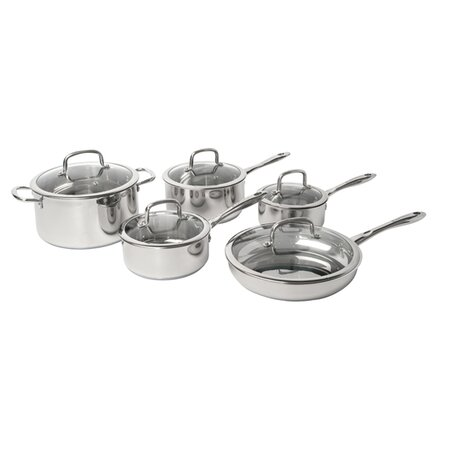 10 Piece Boreal Stainless Cookware Set