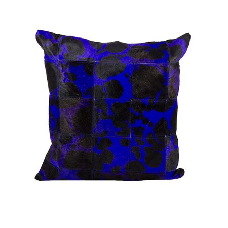 Expedition Leather Hide Pillow in Purple