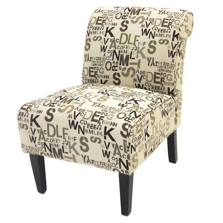 Armen Living Print Slipper Chair