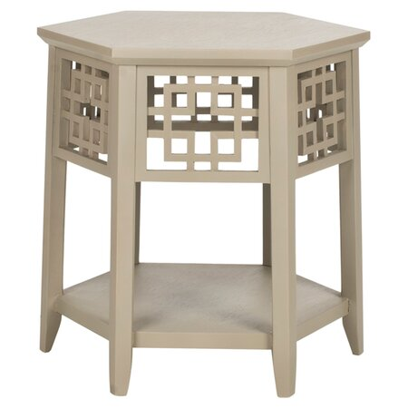 Chiara End Table in Pearl Taupe