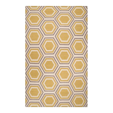 Honeycomb Rug in Quince Yellow