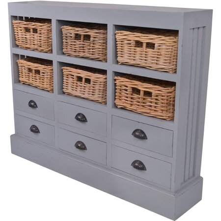Nantucket Cabinet in Light Gray