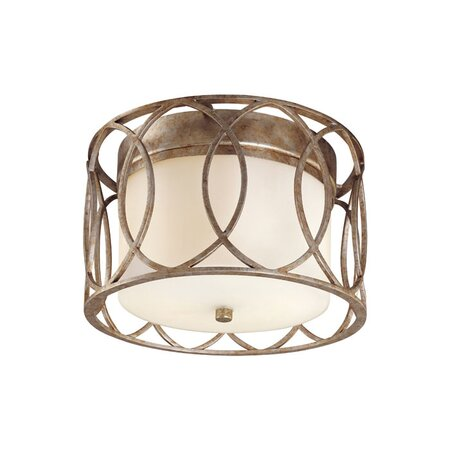 Sausalito Flush Mount in Silver Gold