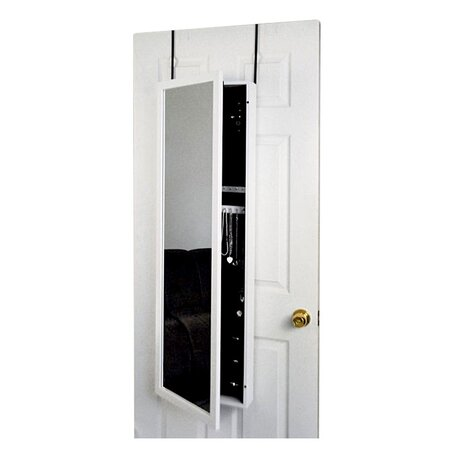 Morrison Over-Door Jewelry Armoire in White