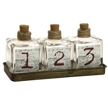 4 Piece Oscar Apothecary Bottle Set