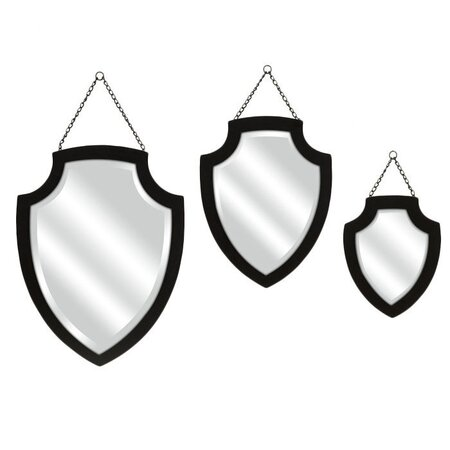 3 Piece Crestly Wall Mirror Set