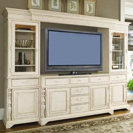 Savannah Media Console in Linen