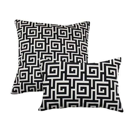 2 Piece Oskar Terrance Pillow Set in Black