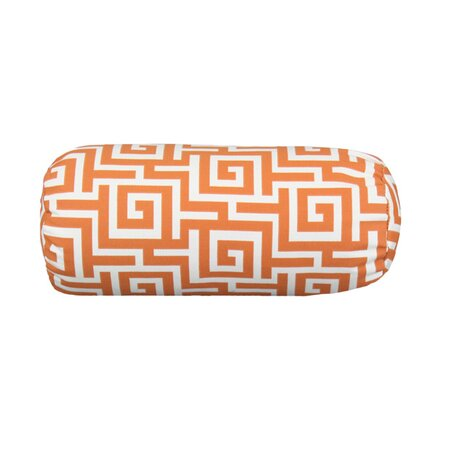 Oksar Terrance Bolster Pillow in Persimmon