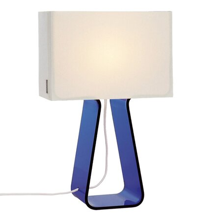 Tube Top Table Lamp in Dark Blue