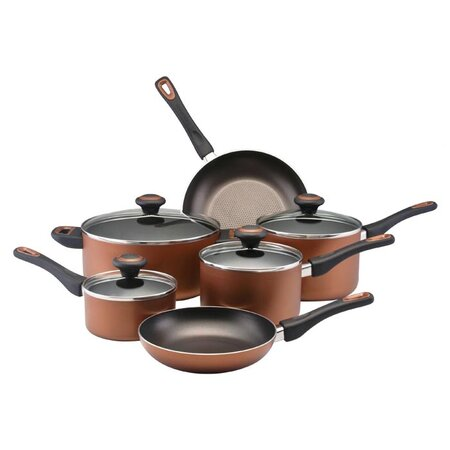 10 Piece Nonstick Cookware Set in Copper