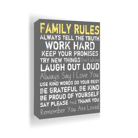 Family Rules Wall Art Accents Under 75 On Joss Main