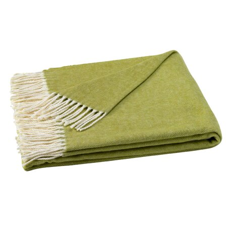 Assiro Herringbone Throw in Lemongrass