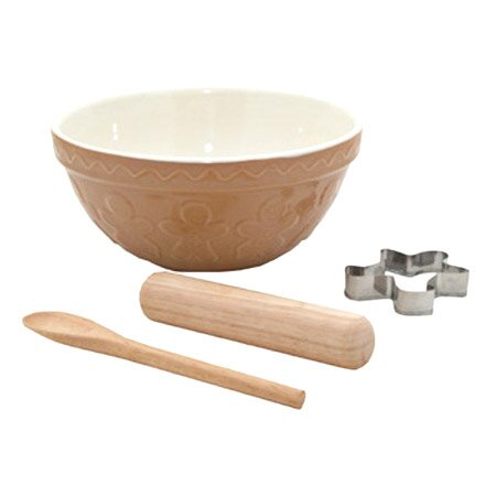 4 Piece Gingerbread Bowl & Tool Set